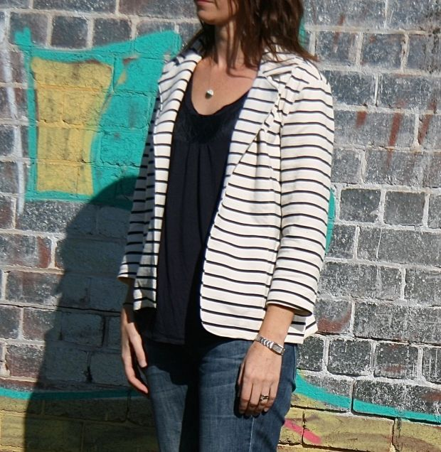 Striped Blazer 2